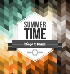 Seamless Geometric Pattern Summer Time vector image vector image