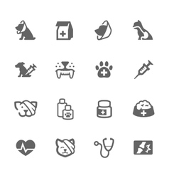 Simple pet vet icons vector