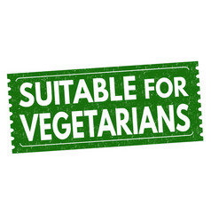 suitable for vegetarians grunge rubber stamp vector image