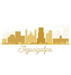 Tegucigalpa city skyline golden silhouette vector