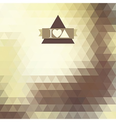 triangle coffee brown color vector image