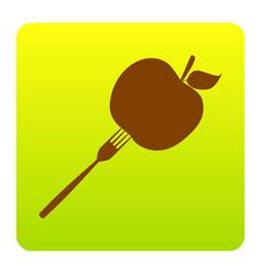 Vegetarian food sign brown vector