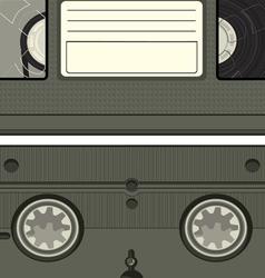 video tape cassette vector image