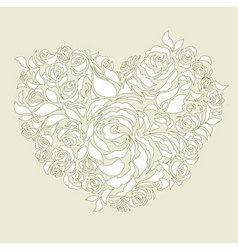 wedding card decoration vector image vector image
