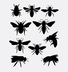 Bee insect animal silhouette vector