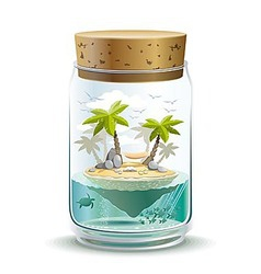 Piece of paradise vector