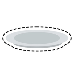 Isolated plate design vector