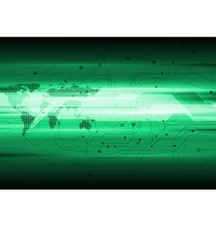 Dark green technology circuit board background vector