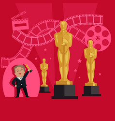 film awards design flat banner concept vector image