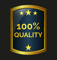 One hundred quality label vector