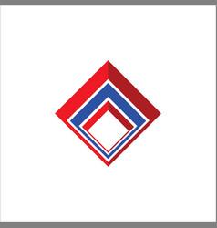 Business finance square logo vector