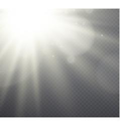 White light effect sunlight beams vector