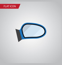 Isolated mirror wing flat icon auto component vector
