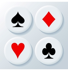 New playing cards signs vector