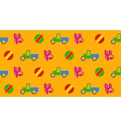 Colorful seamless pattern with toys vector image