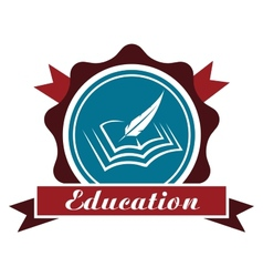 Education icon or emblem vector