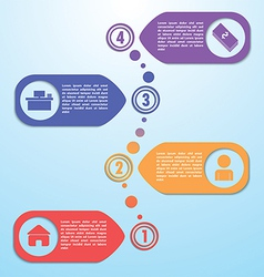 Four steps design template infographic background vector