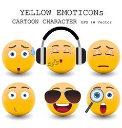 yellow emoticon vector image