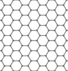 Abstract hexagonal pattern vector