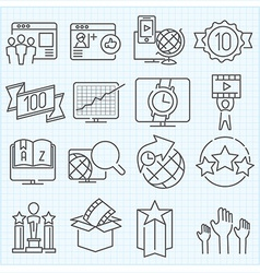 Miscellaneous icons set vector