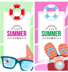 Summertime invite card concept vector