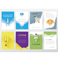 Company brochure templates vector