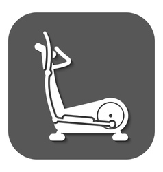 The elliptical trainer icon bike symbol flat vector