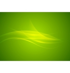 Abstract shiny green waves modern background vector