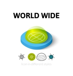 World wide icon in different style vector