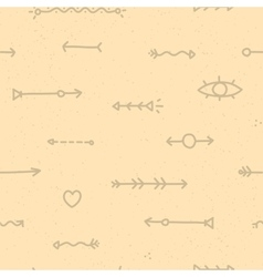 Hand drawn arrows seamless pattern vector