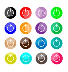 Collection of 16 power or shut down icons vector