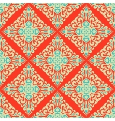 Abstract seamless vintage oriental tiled design vector