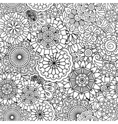 Seamless round floral pattern with pinwheel shapes vector