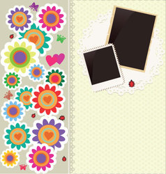 Abstract cute flower background vector image vector image