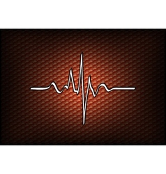 abstract red cardio vector image