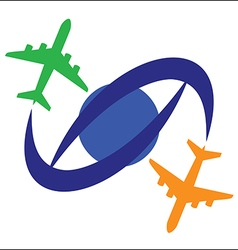 Airplane Travel Symbol vector image