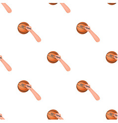 Autograph on a basket ballbasketball pattern icon vector
