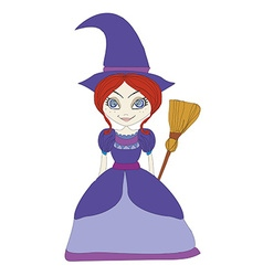 Beautiful little witch vector