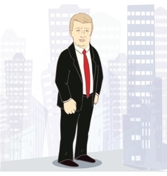 Confidently businessman of white vector