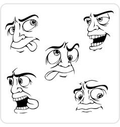 Crazy emotions - set vector