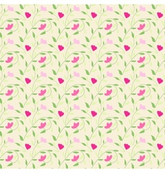 Cute style seamless background floral pattern vector image vector image