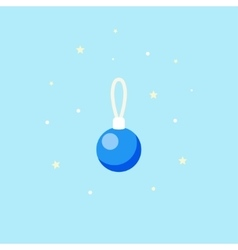Decoration for Christmas tree Icon Blue ball vector image