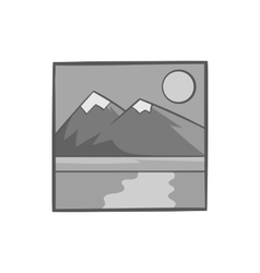 Drawing mountain landscape icon monochrome style vector