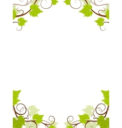 Grape vines frame vector image vector image