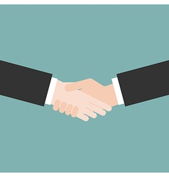 Hands handshaking close up vector image vector image