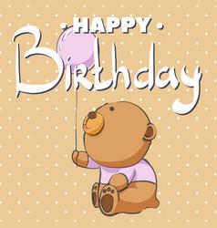happy birthday bear vector image vector image