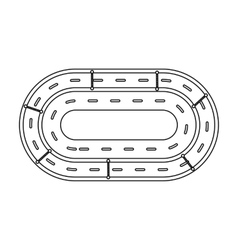 Hippodrome icon in outline style isolated on white vector