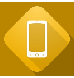 icon of Smart Phone with a long shadow vector image