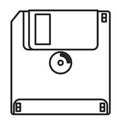 Isolated and silhouette diskette design vector image