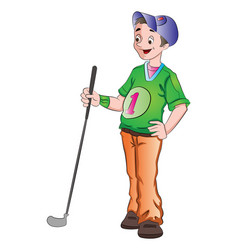 man playing golf vector image vector image